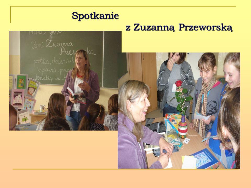 Spotkanie z Zuzanną Przeworską Spotkanie z Zuzanną Przeworską