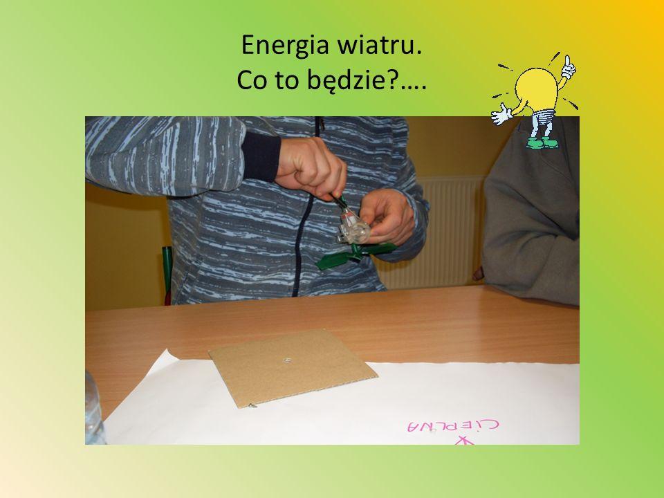Energia wiatru. Co to będzie?….