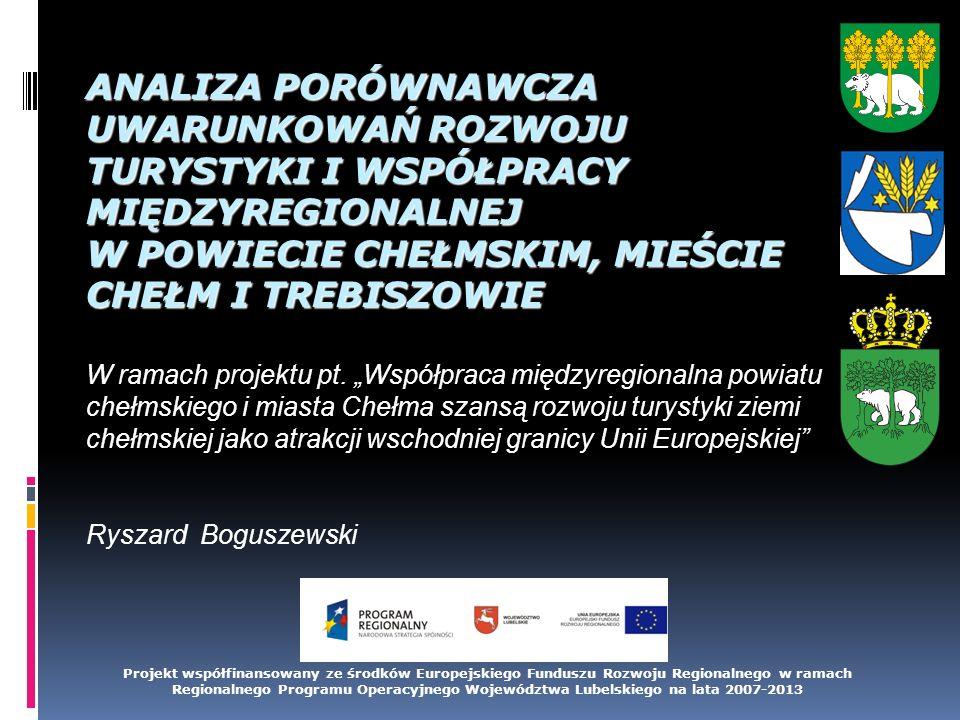 Zawartość analizy Uwarunkowania prawno-instytucjonalne rozwoju turystyki i współpracy międzyregionalnej w Polsce i na Słowacji, Główne instrumenty wspierania i promowania turystyki dostępne dla regionów partnerskich, Główne walory turystyczne regionów partnerskich oraz ocena efektywności wykorzystania tych walorów, Inicjatywy podejmowane na rzecz rozwoju turystyki Obszary działań w zakresie współpracy międzyregionalnej, Analiza potrzeb społeczności lokalnej w zakresie rozwoju współpracy międzyregionalnej i turystyki.