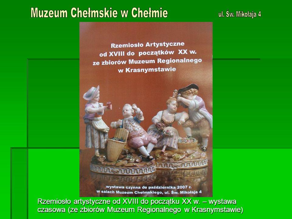 Rzemiosło artystyczne od XVIII do początku XX w.
