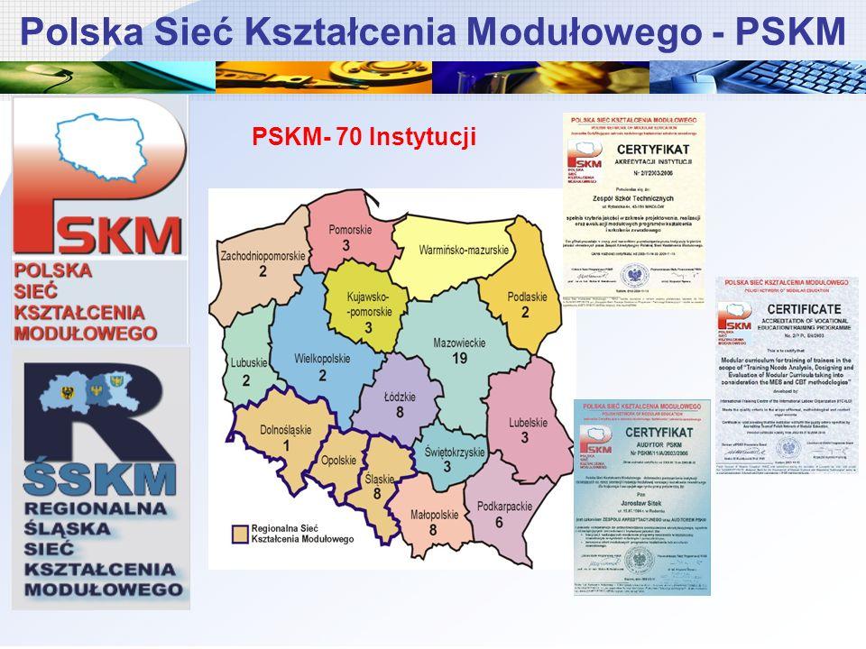 Polska Sieć Kształcenia Modułowego - PSKM PSKM- 70 Instytucji