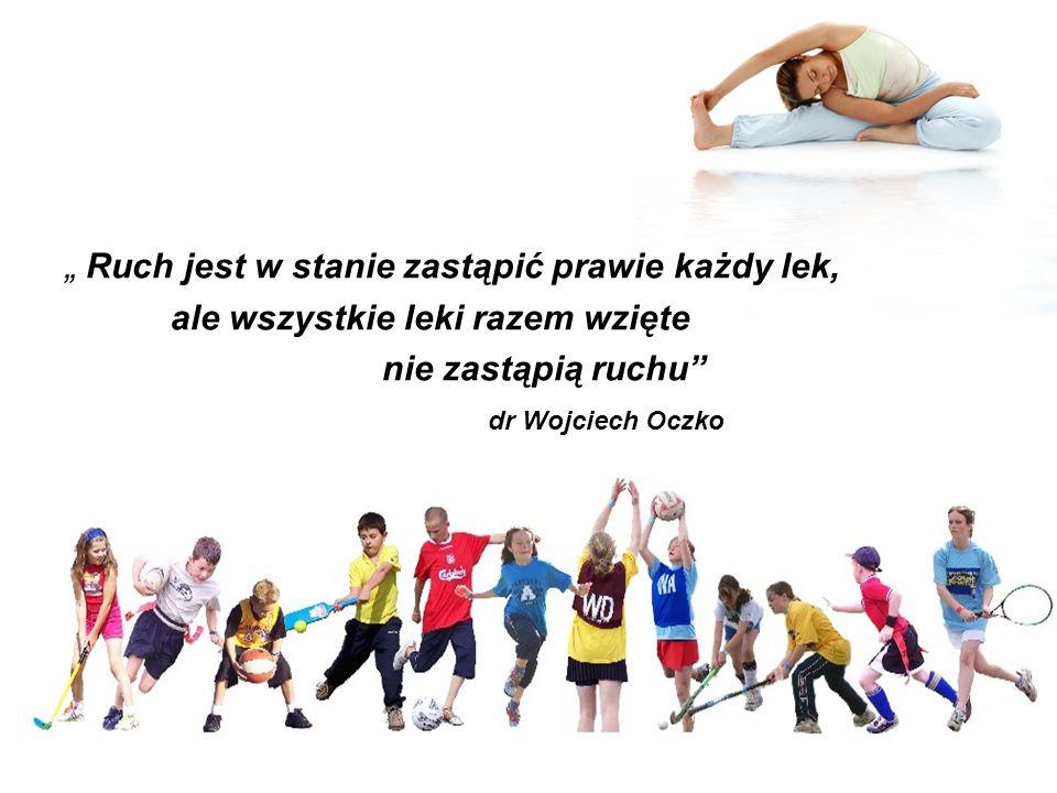 AKTYWNOŚĆ FIZYCZNA Jest nieodłącznym atrybutem życia człowieka Wynika z wrodzonych potrzeb organizmu i nabytych umiejętności Jest niezbędnym elementem zdrowego stylu życia Poprawia stan naszego zdrowia i samopoczucie