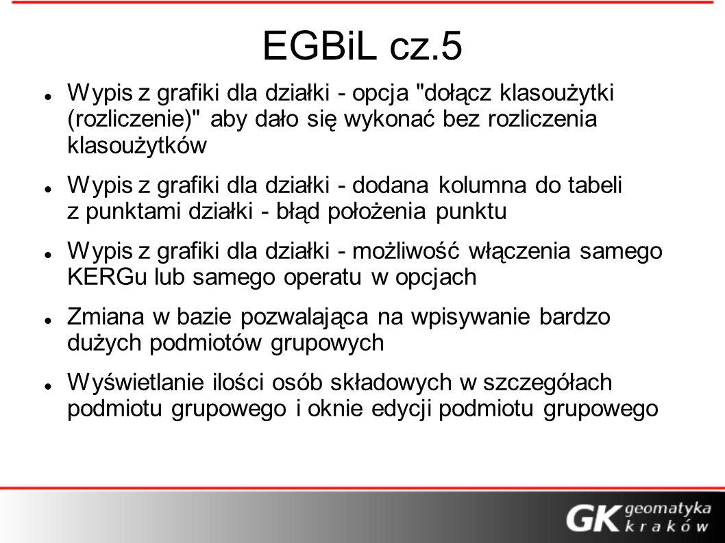 EGBiL cz.5 Wypis z grafiki dla działki - opcja