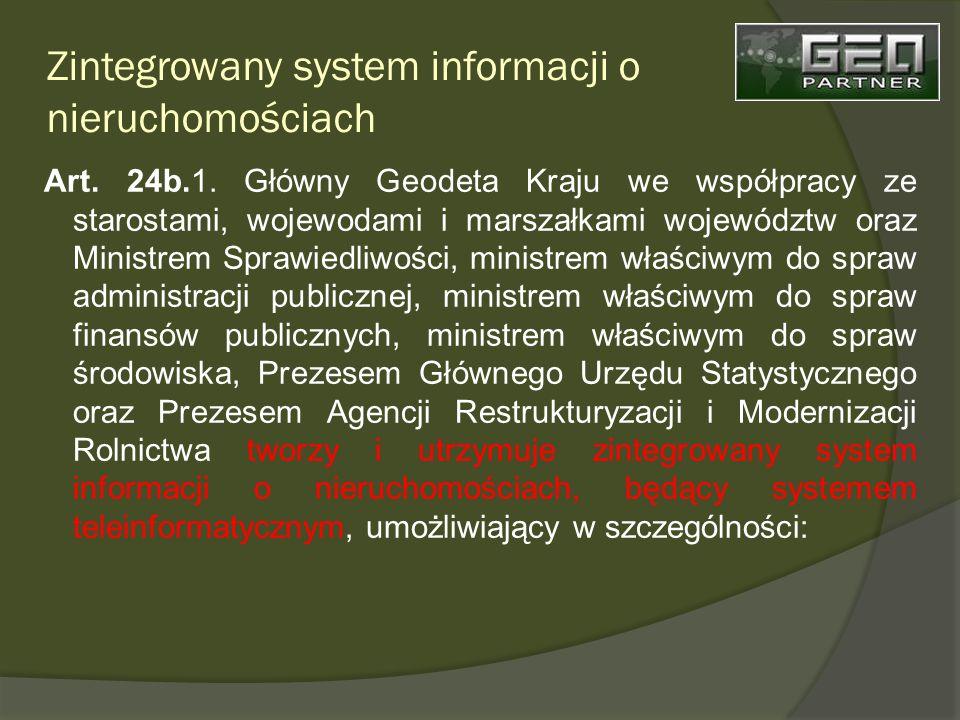 Zintegrowany system informacji o nieruchomościach Art.