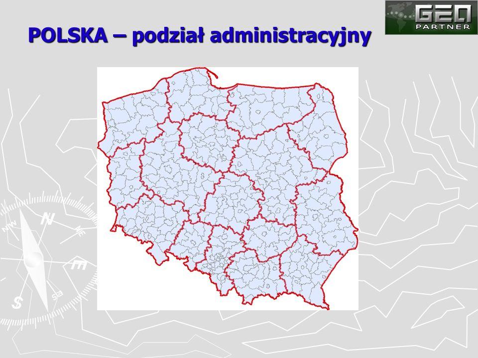 POLSKA – podział administracyjny