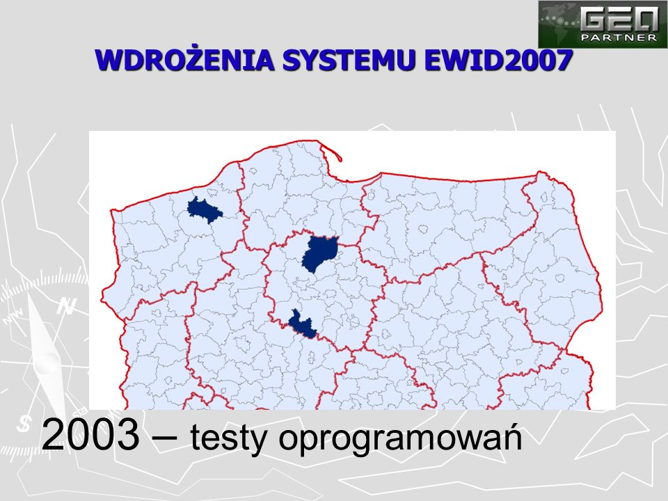WDROŻENIA SYSTEMU EWID2007 2003 – testy oprogramowań