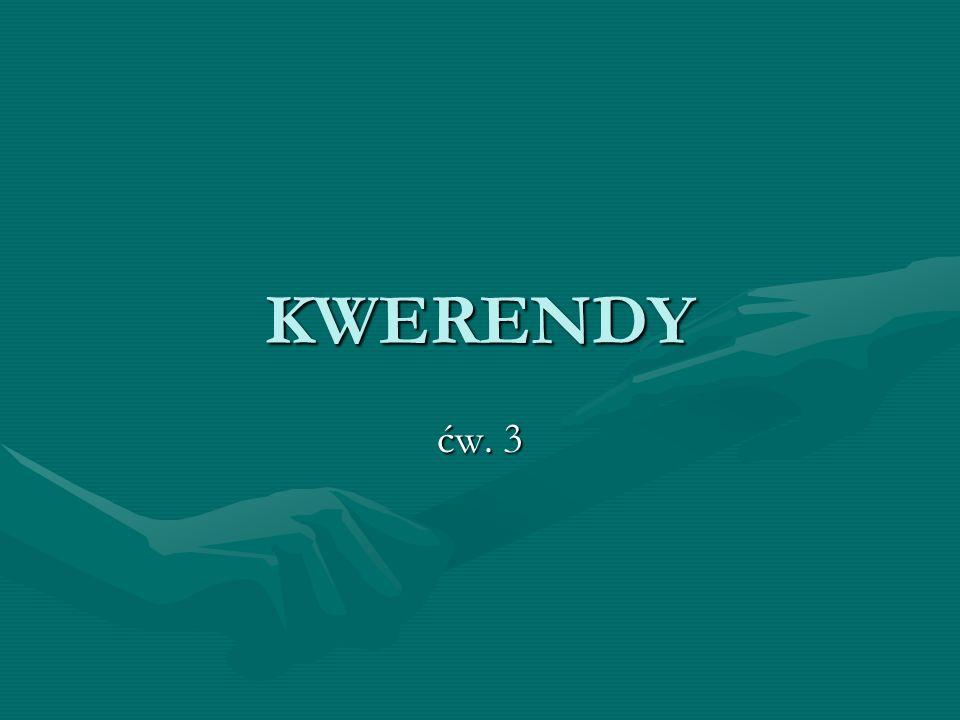 Kwerendy Kwerendy pozwalają na wybieranie z tabel rekordów według określonych kryteriów, łączenie pól z różnych powiązanych ze sobą tabel, wykonywanie obliczeń na polach liczbowych.