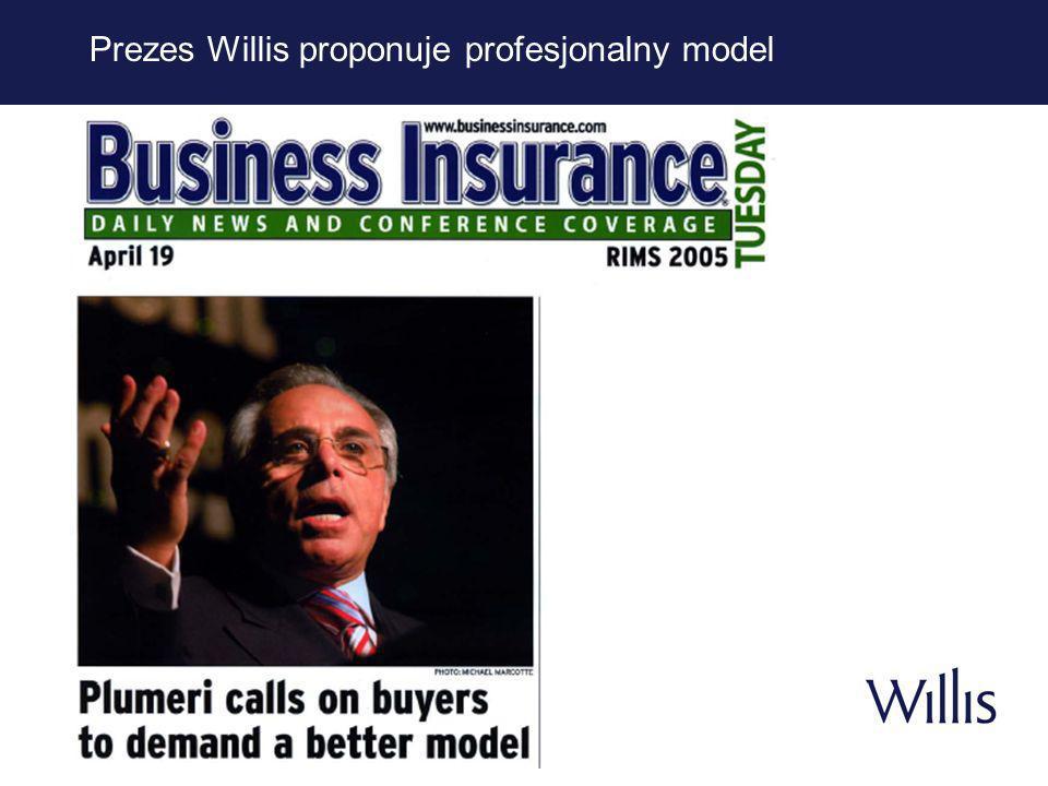 8 Willis Leadership Moment Superprowizje są sprzeczne z bezkonfliktową reprezentacją i wszyscy brokerzy oraz ubezpieczyciele powinni z nich zrezygnować całkowicie i bezwarunkowo niezależnie od tego, czy opierają się one na obrotach, rentowności, wzroście czy też na jakiejkolwiek innej mierze lub formule.