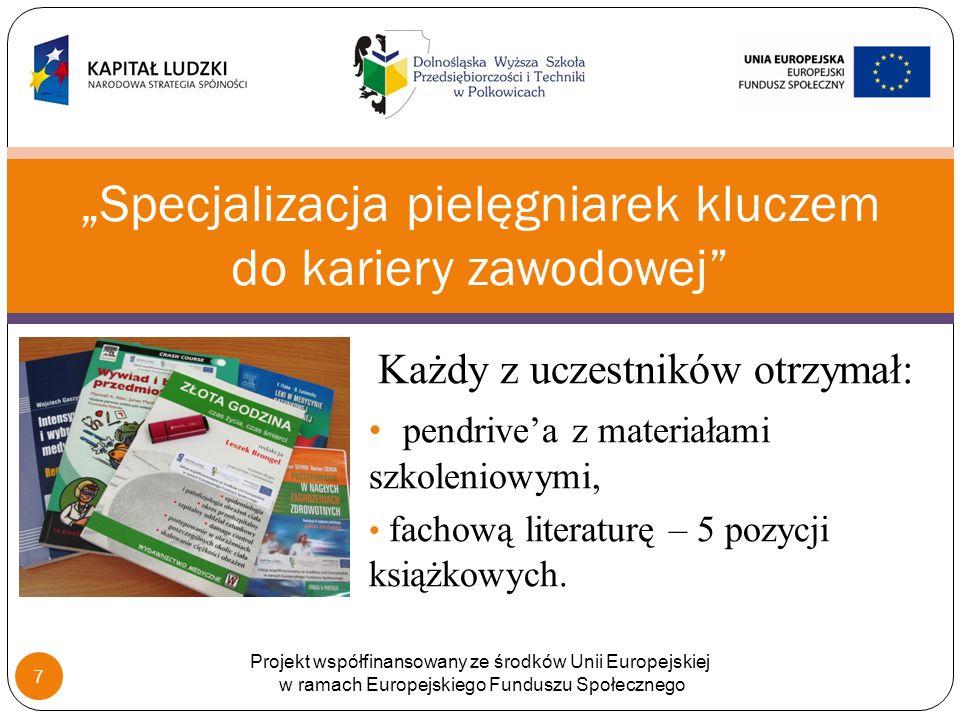 Każdy z uczestników otrzymał: pendrivea z materiałami szkoleniowymi, fachową literaturę – 5 pozycji książkowych.