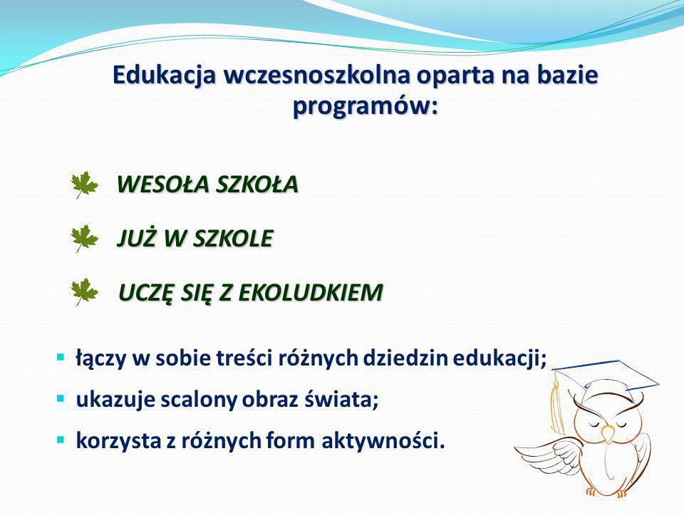 Edukacja wczesnoszkolna oparta na bazie programów: Edukacja wczesnoszkolna oparta na bazie programów: WESOŁA SZKOŁA WESOŁA SZKOŁA JUŻ W SZKOLE JUŻ W S