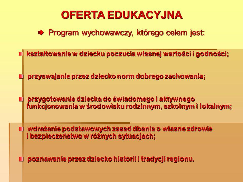 OFERTA EDUKACYJNA język angielski – klasy I, II i III; nauka pływania klasy II i III; informatyka – klasy I, II i III;
