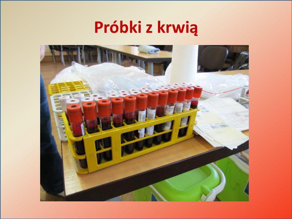 Próbki z krwią