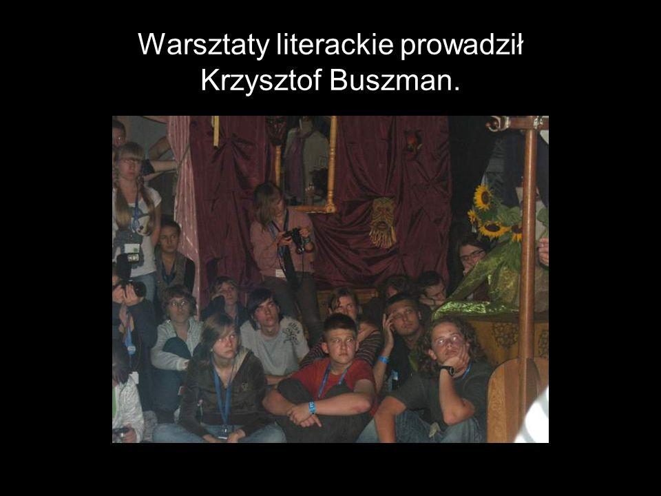 Warsztaty literackie prowadził Krzysztof Buszman.