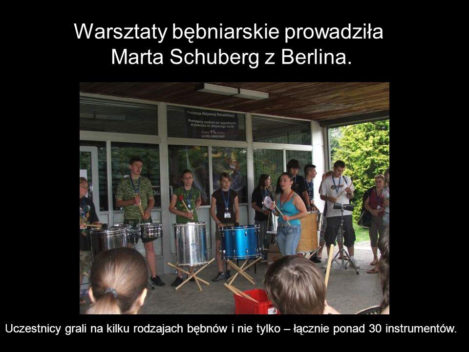 Warsztaty bębniarskie prowadziła Marta Schuberg z Berlina.