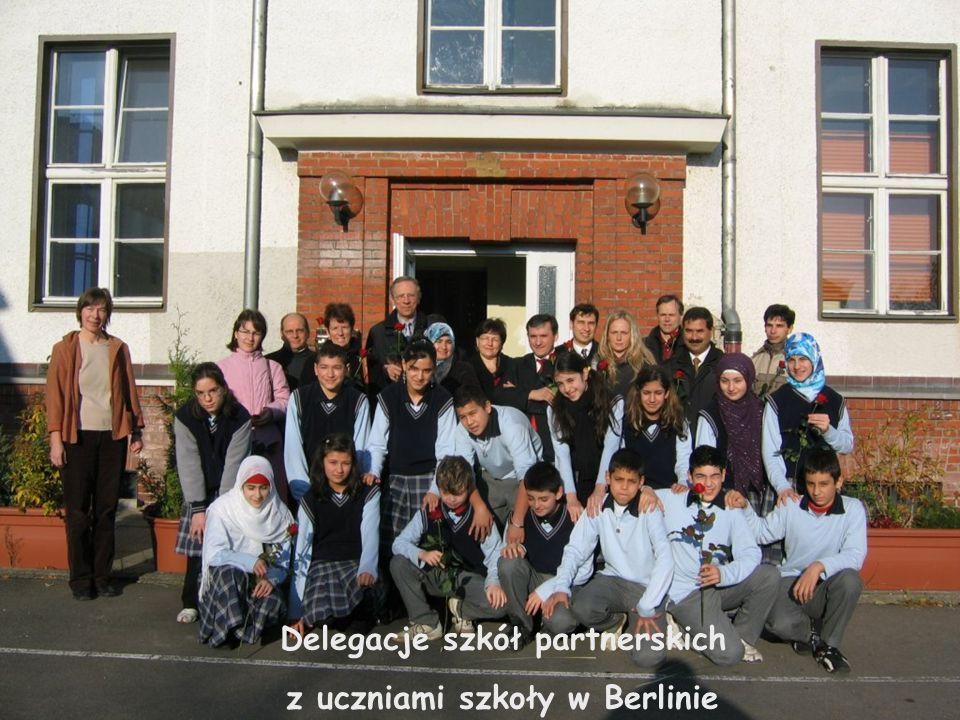 Delegacje szkół partnerskich z uczniami szkoły w Berlinie