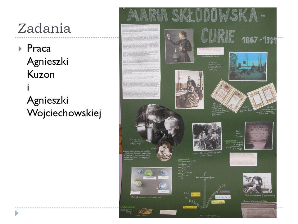 Zadania Praca Agnieszki Kuzon i Agnieszki Wojciechowskiej