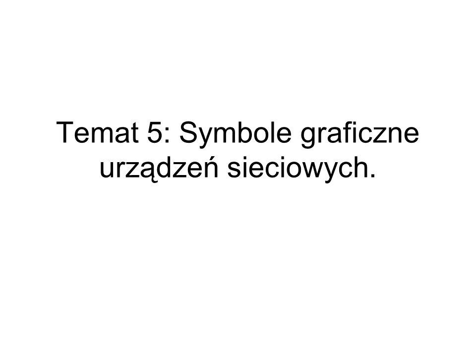 Temat 5: Symbole graficzne urządzeń sieciowych.