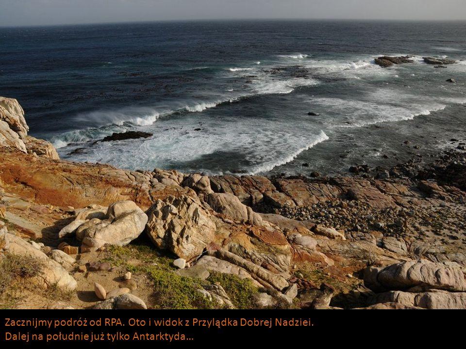 Zacznijmy podróż od RPA. Oto i widok z Przylądka Dobrej Nadziei. Dalej na południe już tylko Antarktyda…
