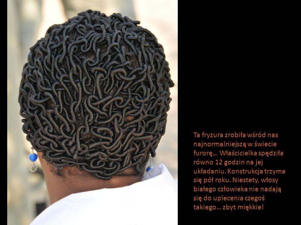 Ta fryzura zrobiła wśród nas najnormalniejszą w świecie furorę… Właścicielka spędziła równo 12 godzin na jej układaniu. Konstrukcja trzyma się pół rok