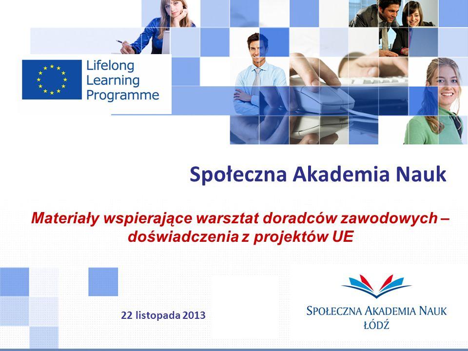 Ponad 40 projektów międzynarodowych (LLP, EQUAL, FP6, EFS...) Dział realizujący projekty międzynarodowe www.dpf.spoleczna.pl