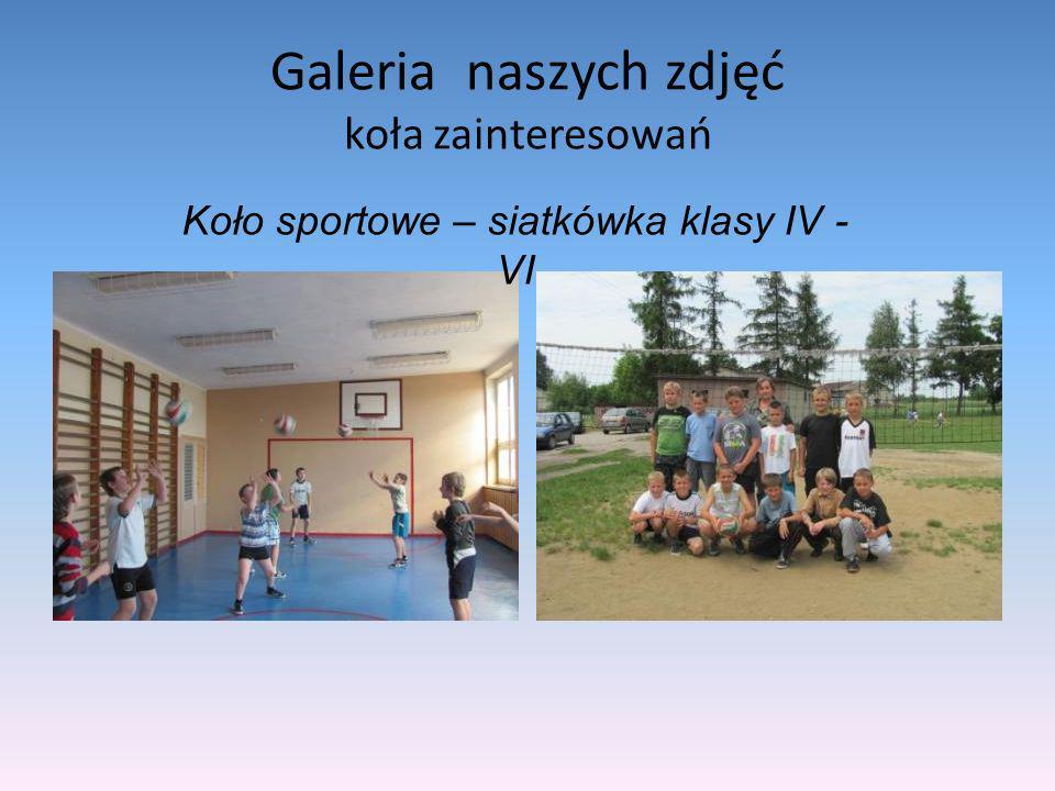 Galeria naszych zdjęć koła zainteresowań Koło sportowe – siatkówka klasy IV - VI