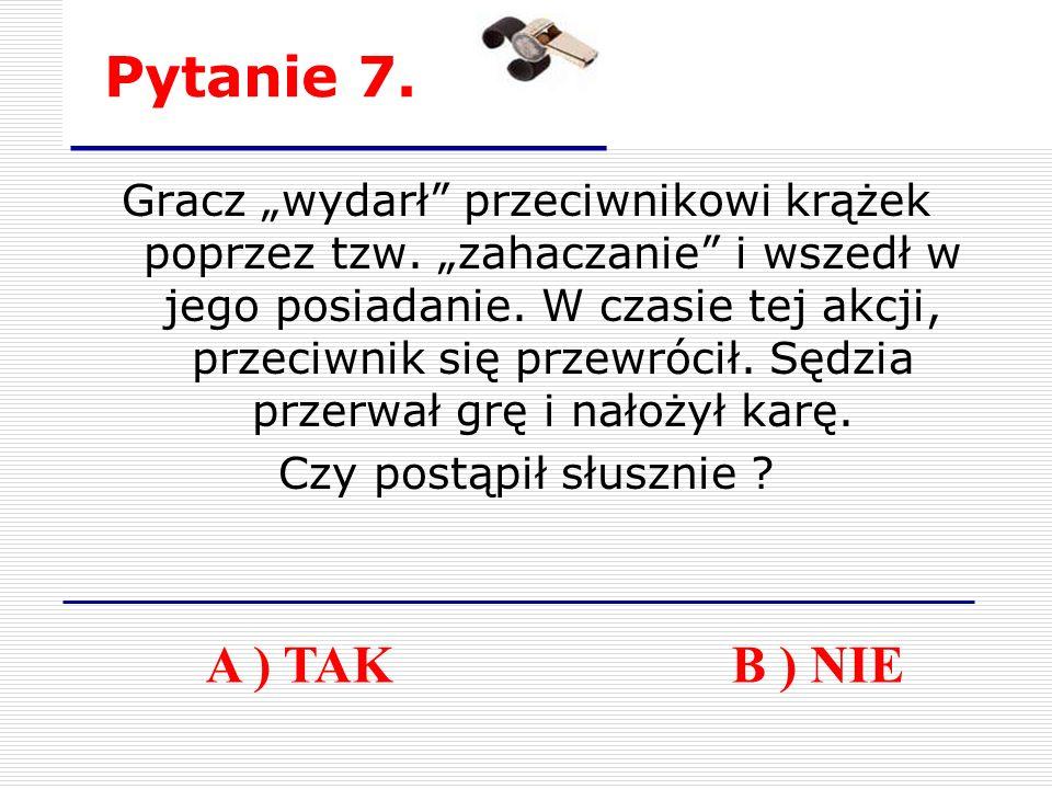 Pytanie 7. Gracz wydarł przeciwnikowi krążek poprzez tzw.
