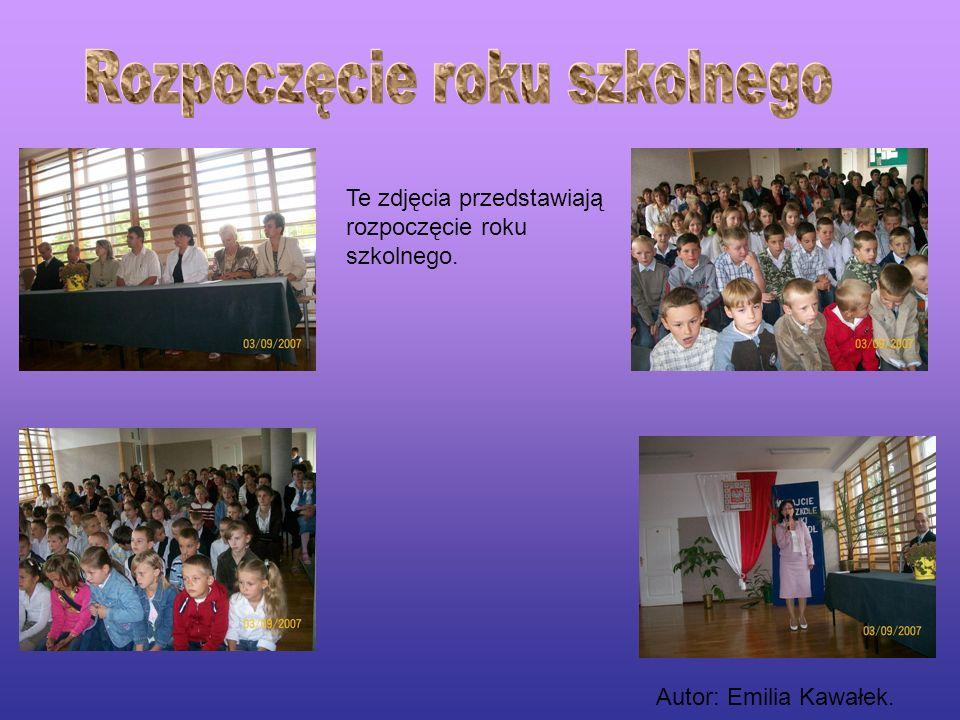 Te zdjęcia przedstawiają rozpoczęcie roku szkolnego. Autor: Emilia Kawałek.