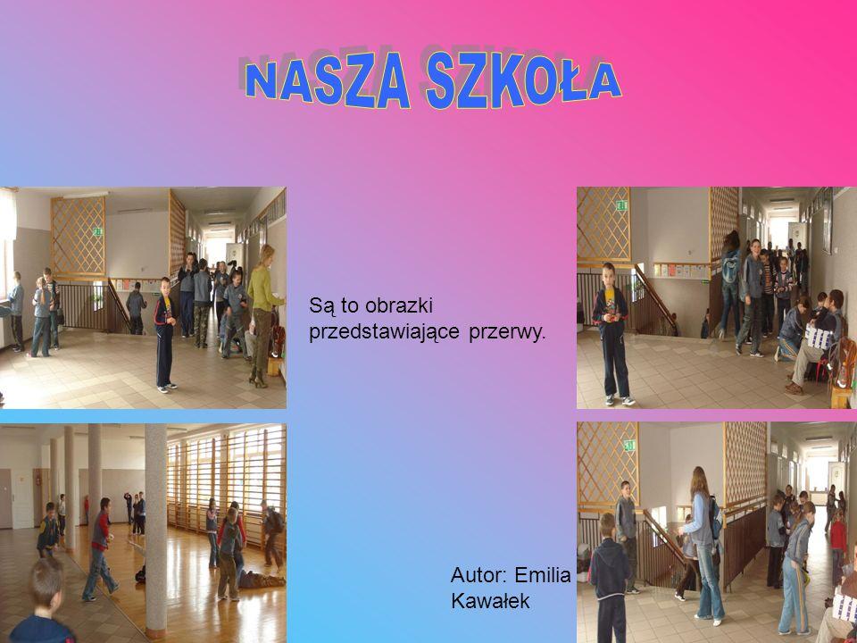 Są to obrazki przedstawiające szkolny sklepik. Autor: Emilia Kawałek.