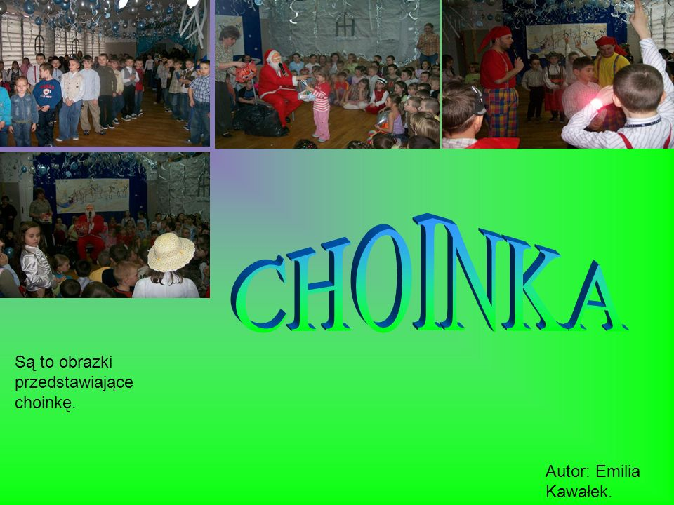 Są to obrazki przedstawiające dzień kultury kurpiowskiej. Autor: Emilia Kawałek.