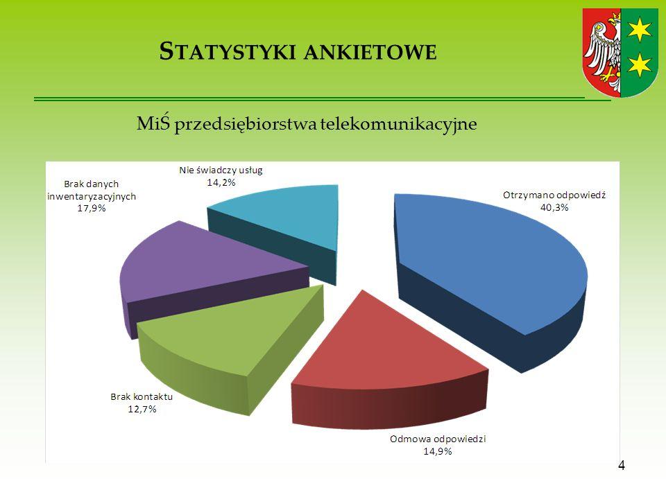 S TATYSTYKI ANKIETOWE 4 MiŚ przedsiębiorstwa telekomunikacyjne