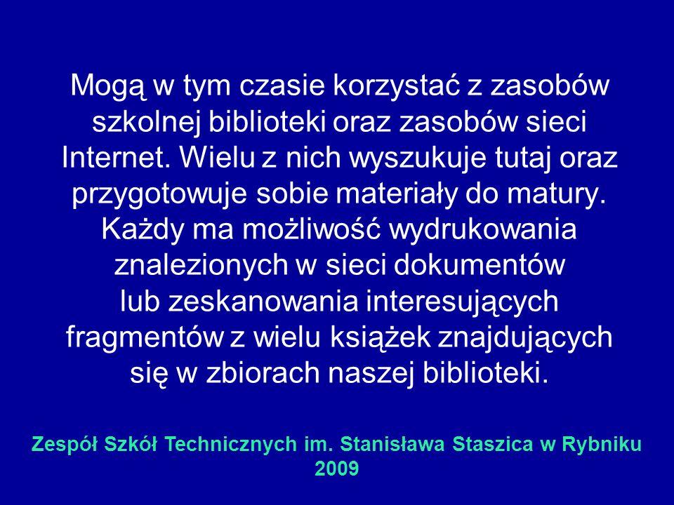 Zespół Szkół Technicznych im. Stanisława Staszica w Rybniku 2009