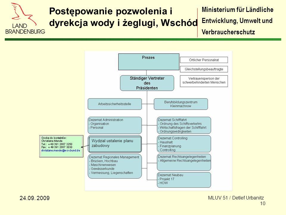 Ministerium für Ländliche Entwicklung, Umwelt und Verbraucherschutz 24.09.