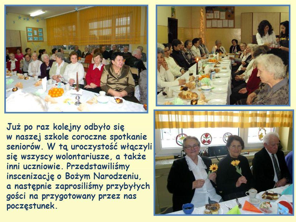 Już po raz kolejny odbyło się w naszej szkole coroczne spotkanie seniorów.