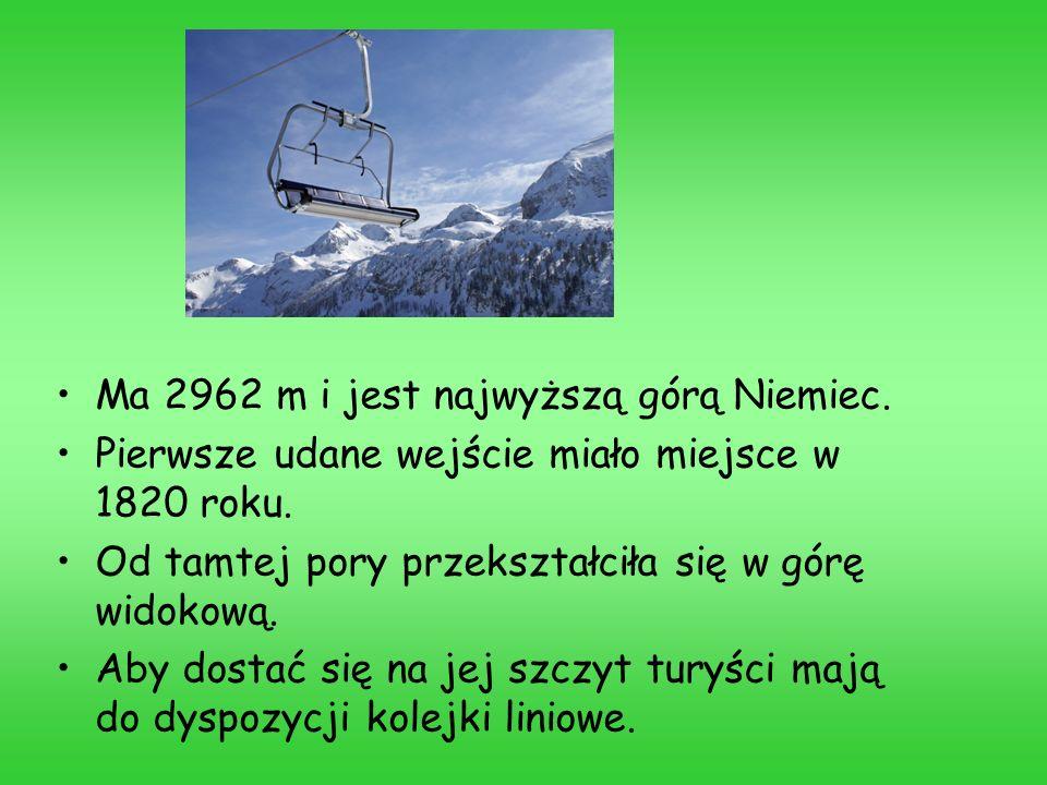 Ma 2962 m i jest najwyższą górą Niemiec. Pierwsze udane wejście miało miejsce w 1820 roku. Od tamtej pory przekształciła się w górę widokową. Aby dost