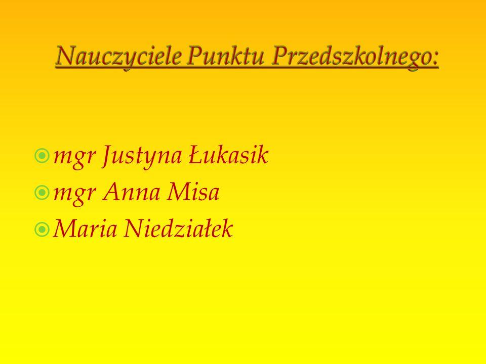 Logopeda – mgr Lilianna Moskal Psycholog – mgr Bogumiła Kita