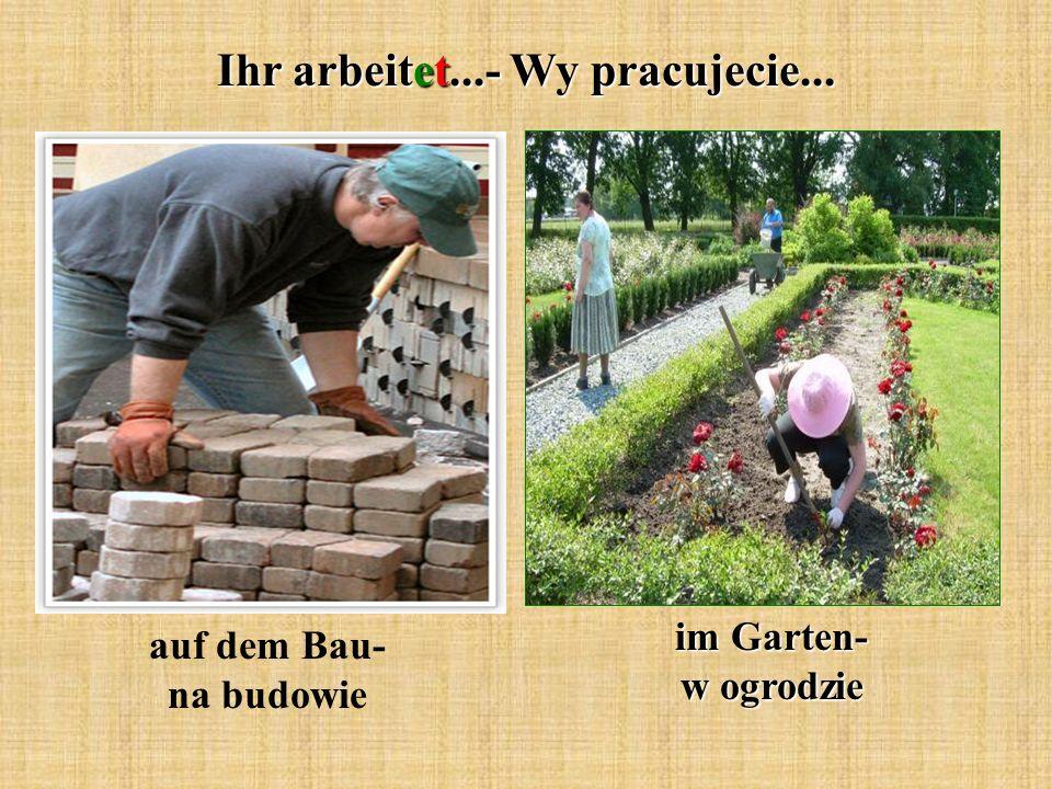 Ihr arbeitet...- Wy pracujecie... auf dem Bau- na budowie im Garten- w ogrodzie