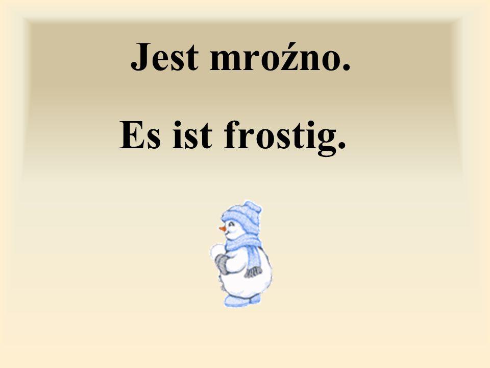 Jest mroźno. Es ist frostig.