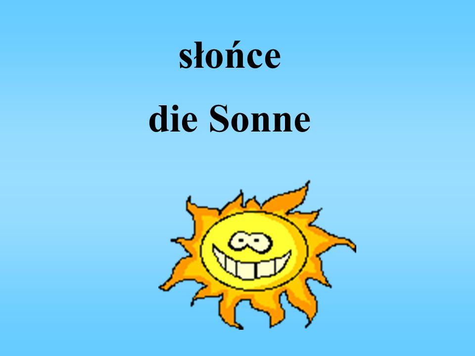 słońce die Sonne