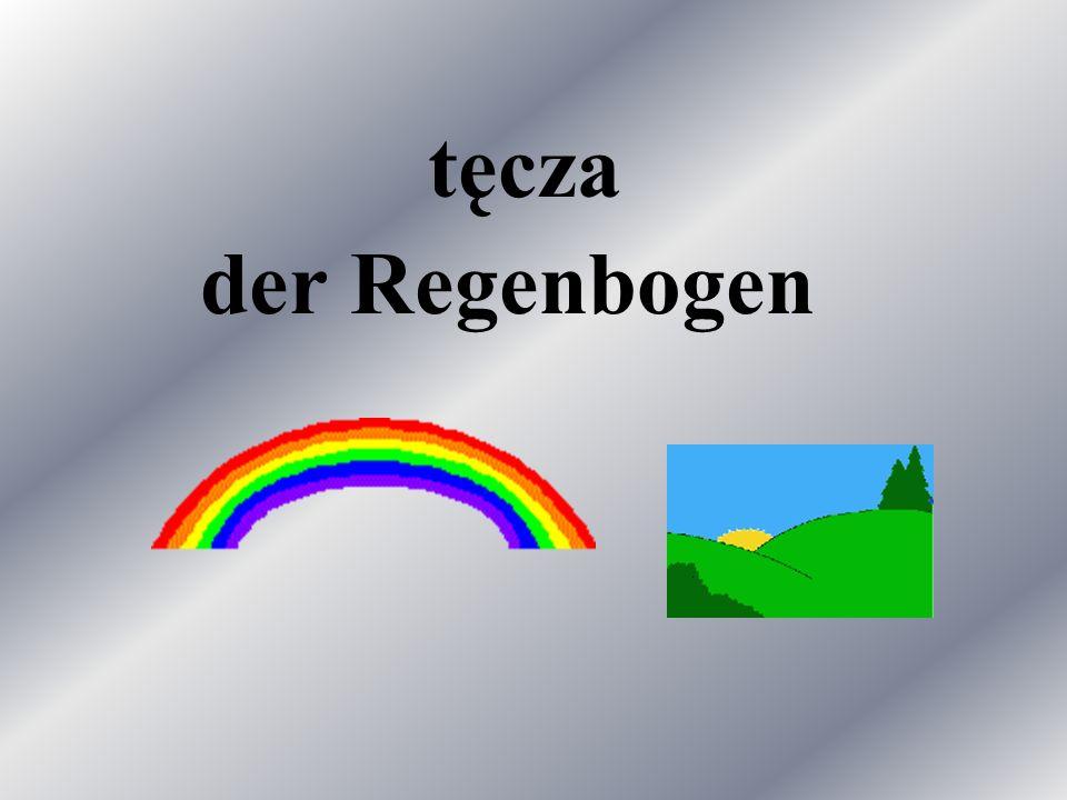 tęcza der Regenbogen
