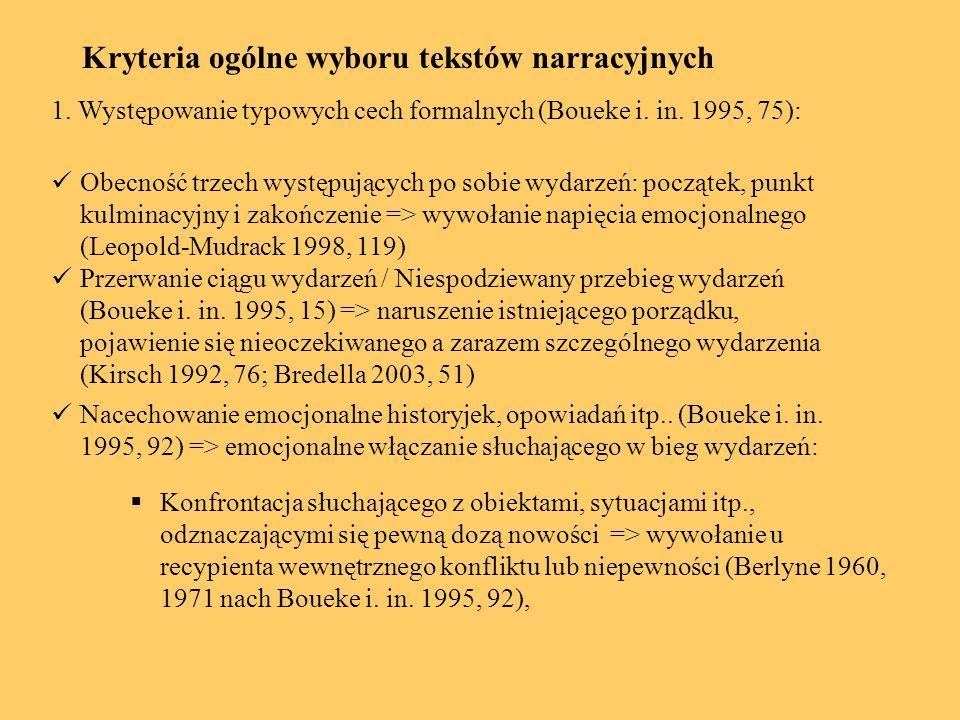 Przykład: Wilk i siedem koźlątek Otwieranie drzwi => scena nacechowana emocjonalnie (Betz 1986, 167f).