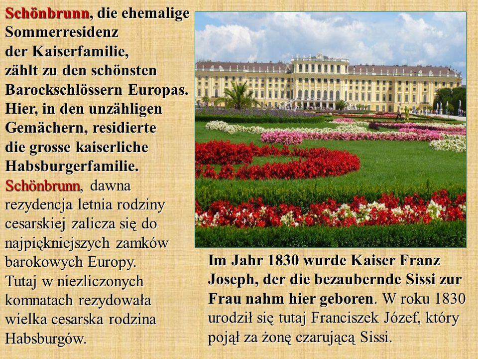 Schönbrunn, die ehemalige Sommerresidenz der Kaiserfamilie, zählt zu den schönsten Barockschlössern Europas.