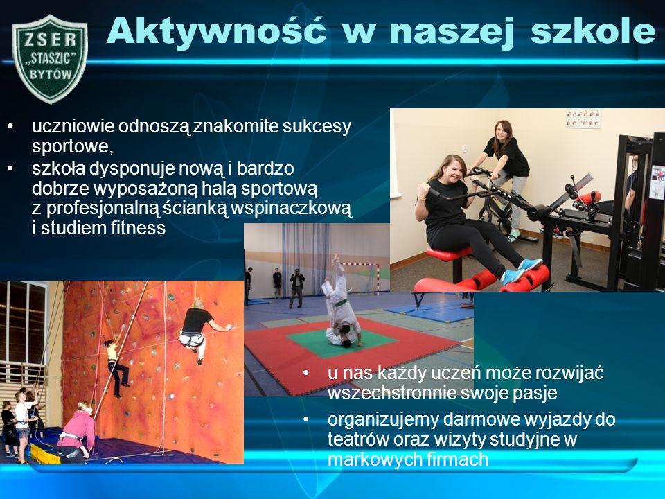 uczniowie odnoszą znakomite sukcesy sportowe, Aktywność w naszej szkole szkoła dysponuje nową i bardzo dobrze wyposażoną halą sportową z profesjonalną