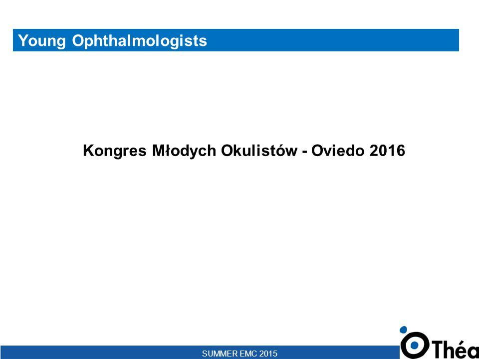 SUMMER EMC 2015 Filozofia spotkania: By YOs For YOs Definicja YO (Young Ophthalmologist): YOs- okuliści w trakcie, bądź nie więcej niż 5 lat po ukończeniu specjalizacji Pierwsze spotkanie Odbyło się w Porto, w lipcu 2014