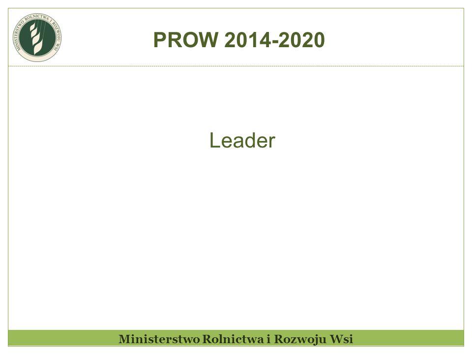 Ministerstwo Rolnictwa i Rozwoju Wsi Leader PROW 2014-2020