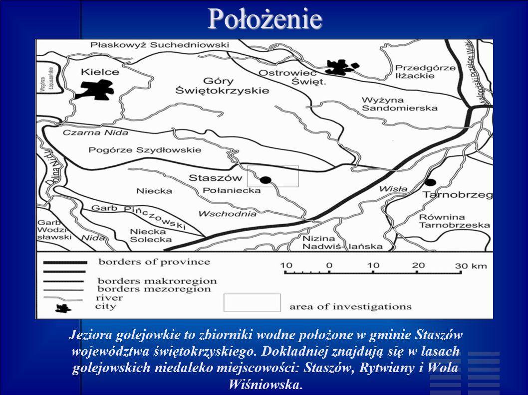 Położenie Jeziora golejowkie to zbiorniki wodne położone w gminie Staszów województwa świętokrzyskiego.