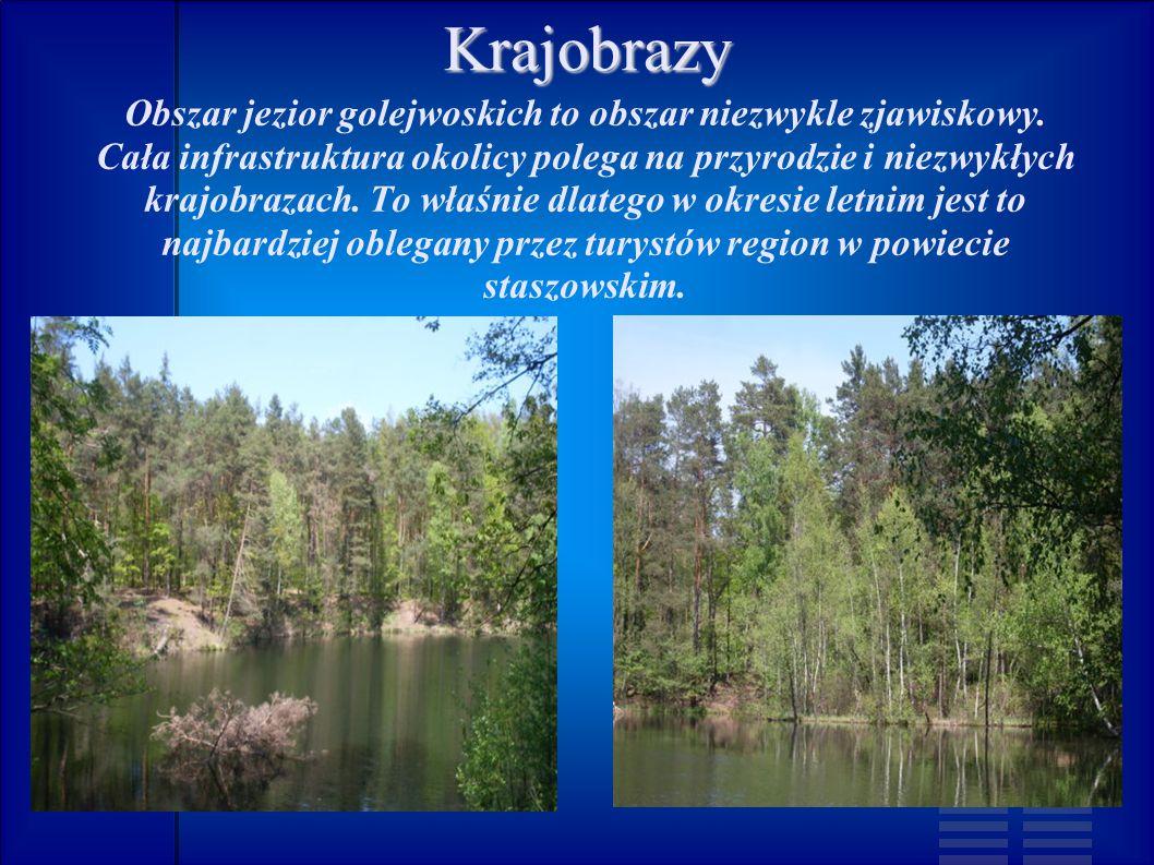 Krajobrazy Obszar jezior golejwoskich to obszar niezwykle zjawiskowy.