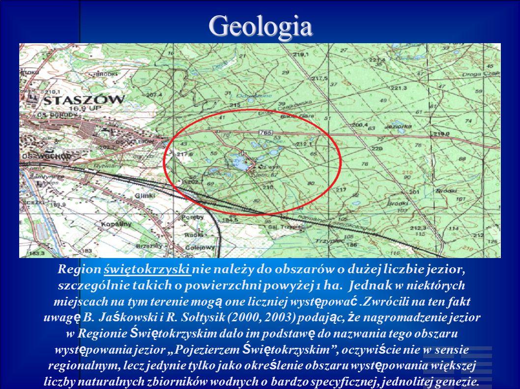 Region świętokrzyski nie należy do obszarów o dużej liczbie jezior, szczególnie takich o powierzchni powyżej 1 ha.