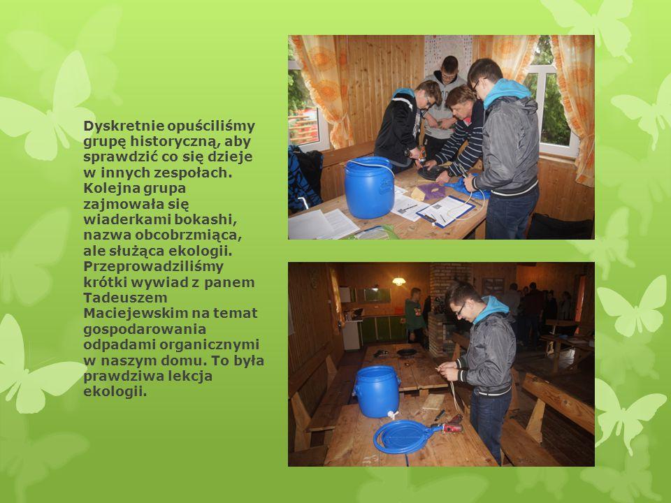 Postanowiliśmy znaleźć również grupę pani Bożeny Zdanowicz, która wykonywała swoje zadania w ciepłym i przytulnym domku.