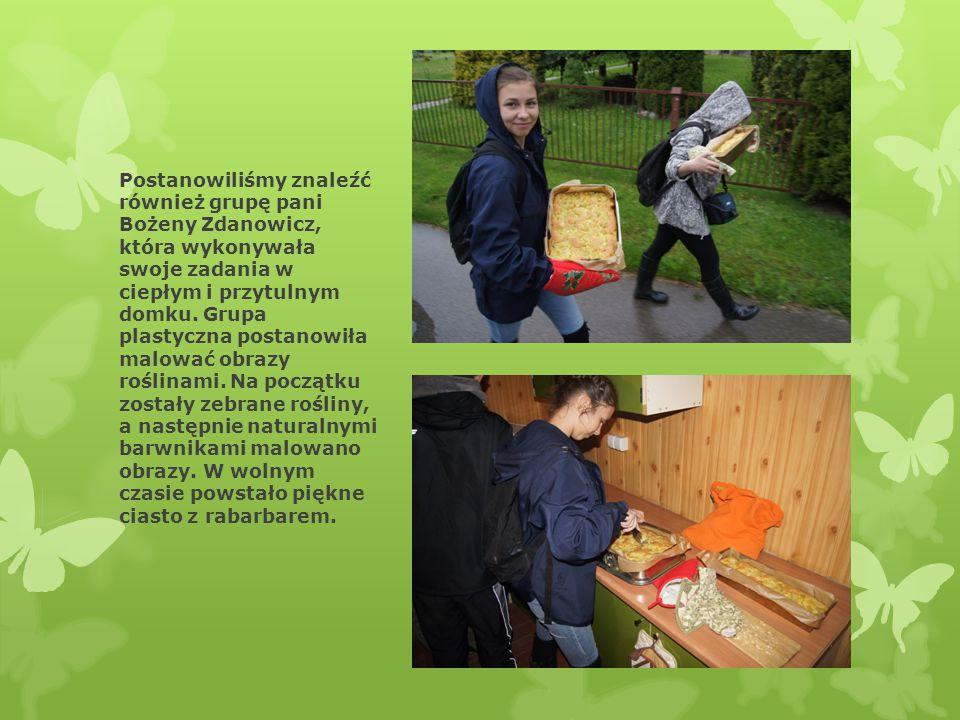 Postanowiliśmy znaleźć również grupę pani Bożeny Zdanowicz, która wykonywała swoje zadania w ciepłym i przytulnym domku. Grupa plastyczna postanowiła