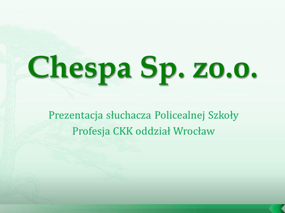 Prezentacja słuchacza Policealnej Szkoły Profesja CKK oddział Wrocław